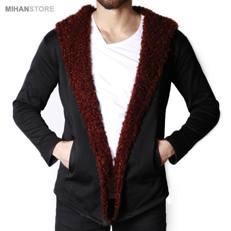 خرید شنل و هودی خزدار مردانه Woolen