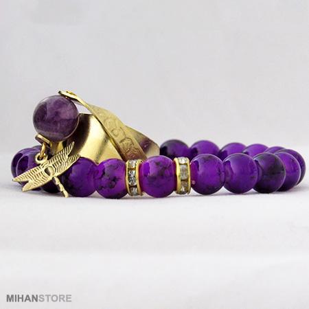 ست دستبند و انگشتر ویولت Violet اصل