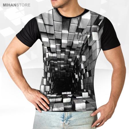 عکس محصول تی شرت سه بعدی Blocks