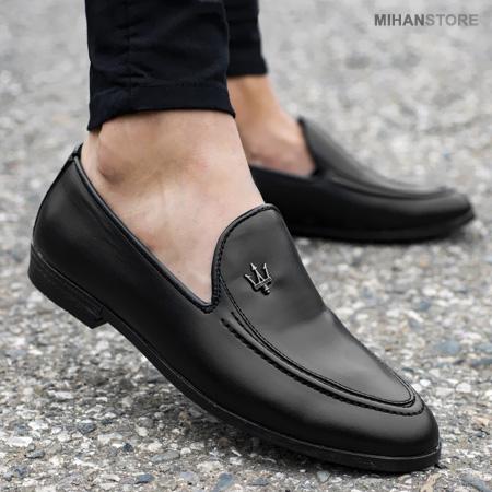 عکس محصول کفش کالج مردانه طرح Maserati