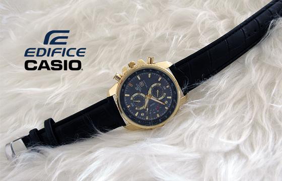 ساعت کاسیو بند چرم - مدل EF-558