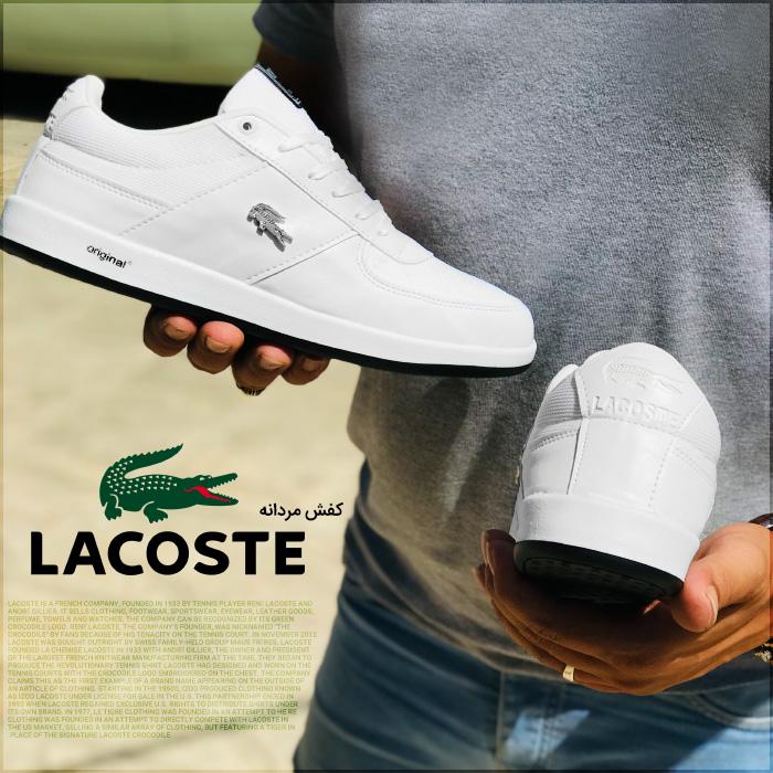 کفش مردانه لاگوست سفید Lacoste Men Shoes
