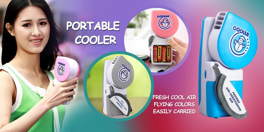 خرید پستی مینی کولر دستی پرتابل همراه Portable Cooler