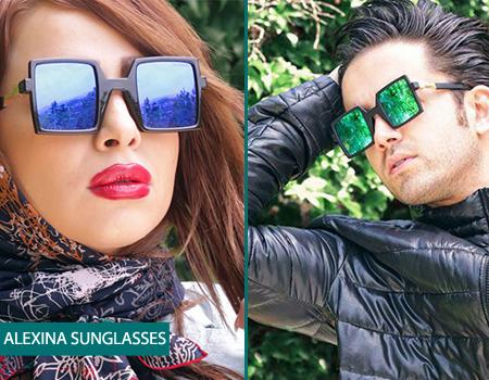 عینک آفتابی شیشه مربعی