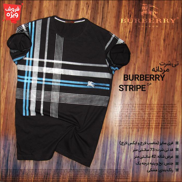 تی شرت مردانه باربری Burberry اس تریپ طرح Stripe