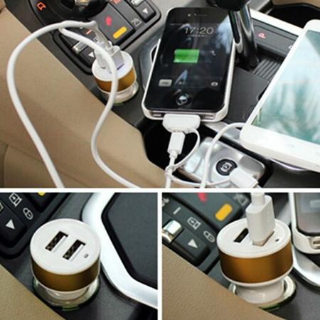 شارژر فندکی اتومبیل با دو پورت USB