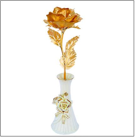خرید شاخه گل رز طلای نانو