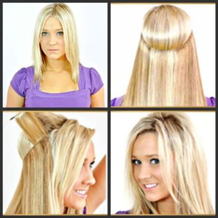 موی اضافه و هایلایت مخفی مو
