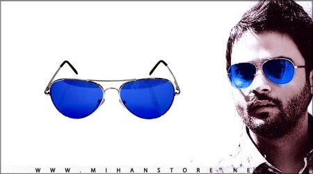 عینک خلبانی شیشه آبی به همراه کیف و دستمال اورجینال | WwW.BestBaz.IR