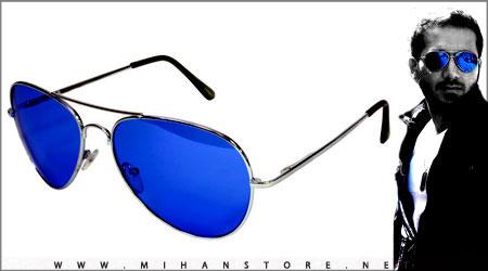 عینک دودی رنگ آبی