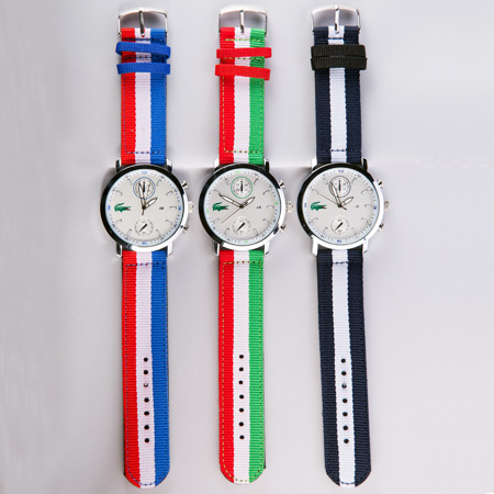 خرید ساعت مچی لاگوست طرح کلاسیک با پرچم سه رنگ ایران