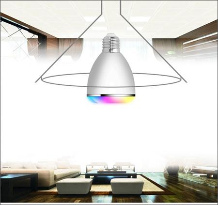 ledspeaker 10 لامپ هوشمند و اسپیکر بلوتوثی کنترل دار