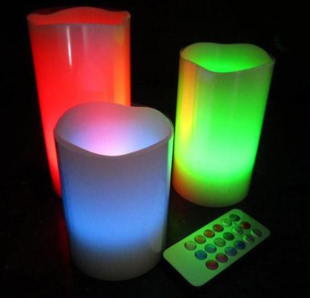 شمع ال ای دی 12 رنگ Luma Candles