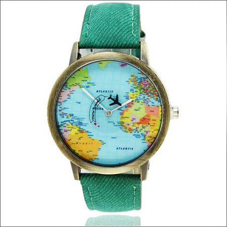 ساعت مچی طرح نقشه کره زمین