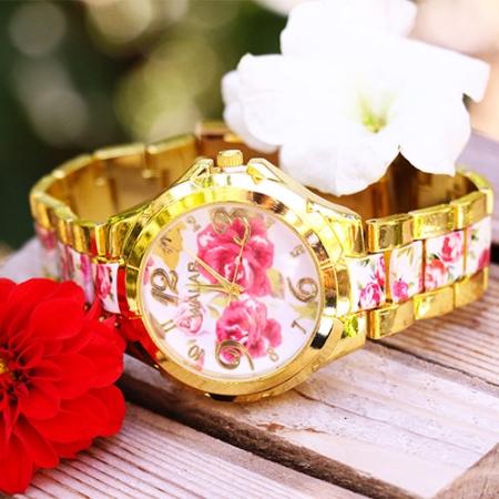 خرید+ساعت+مچی+گلدار