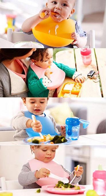 pishbandsilik 3 پیشبند کاسه ای کودک   Baby Bib Soft