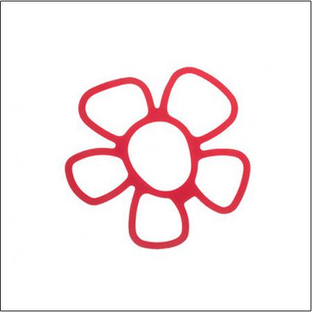 زیر قابلمه ای سیلیکونی طرح گل