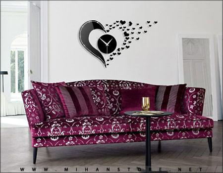 خرید اینترنتی ساعت دیواری طرح Love