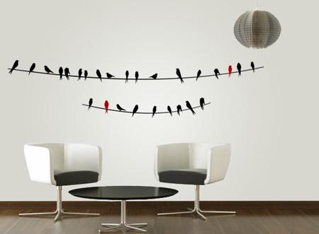 خرید استیکر طرح شاخه و پرنده | WwW.BestBaz.IR